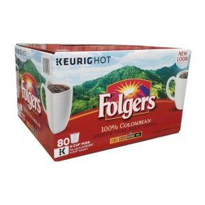 Folgers Lively Colombian Coffee 80 K-Cups