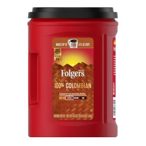 Folgers Colombian Coffee Ground 43.8 oz - 370 Cups